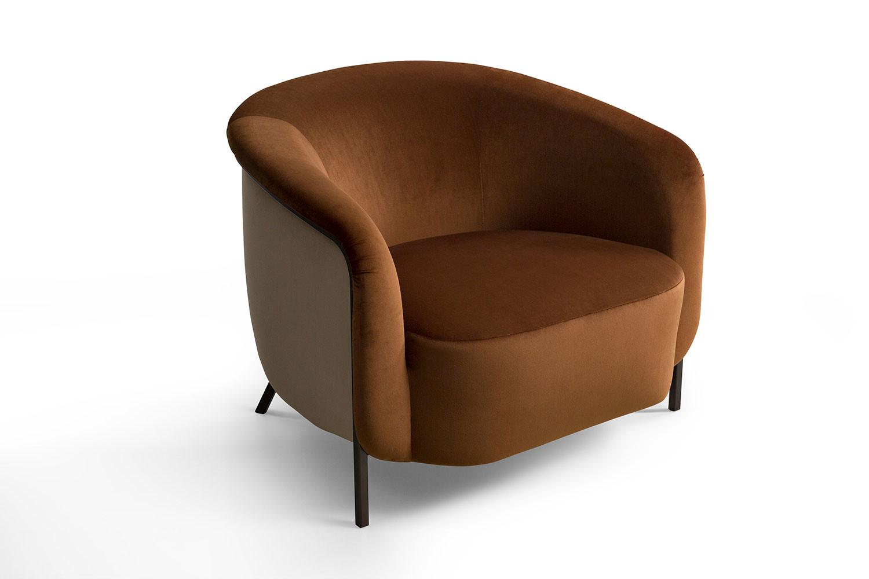 Ring, poltrona di design con seduta larga e profonda