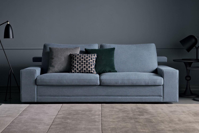 All-in, esclusivo divano letto componibile imbottito in piuma d'oca