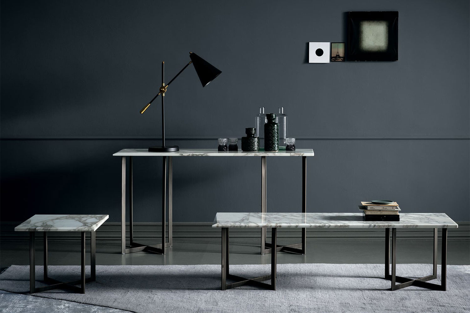 Blunt collection: coffee, side and console tables in beautiful marbles