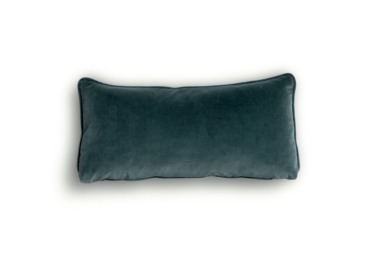 Rectangular lumbar cushion for sofas  in fabric, velvet or leather