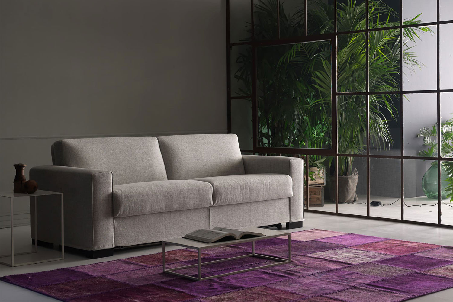 Sectional sofa bed with pocket sprung Simmons mattress