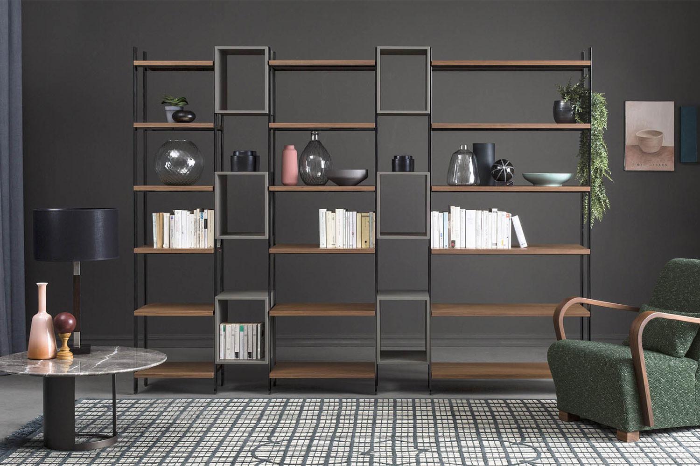 Box, modulares Trennwand-Bücherregal 2 Meter hoch