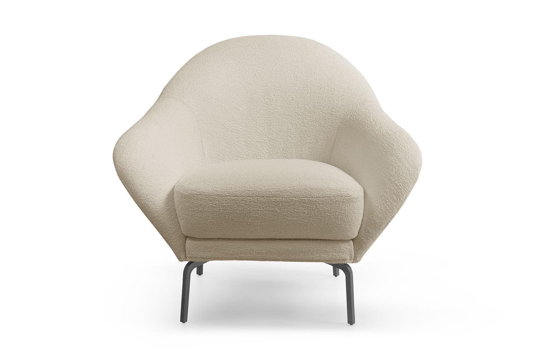 Giulia, origineller Sessel mit einer besonders abgerundeten Form, Design Rita Consonni