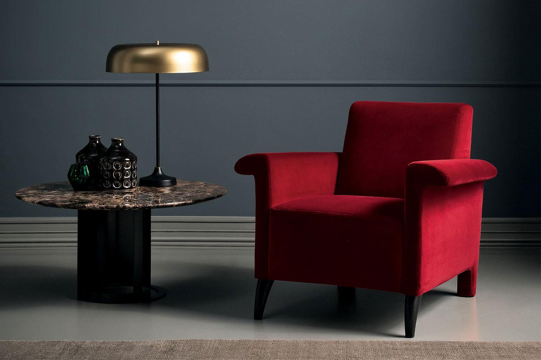 Grace, moderner Design-Sessel mit Holzfüßen