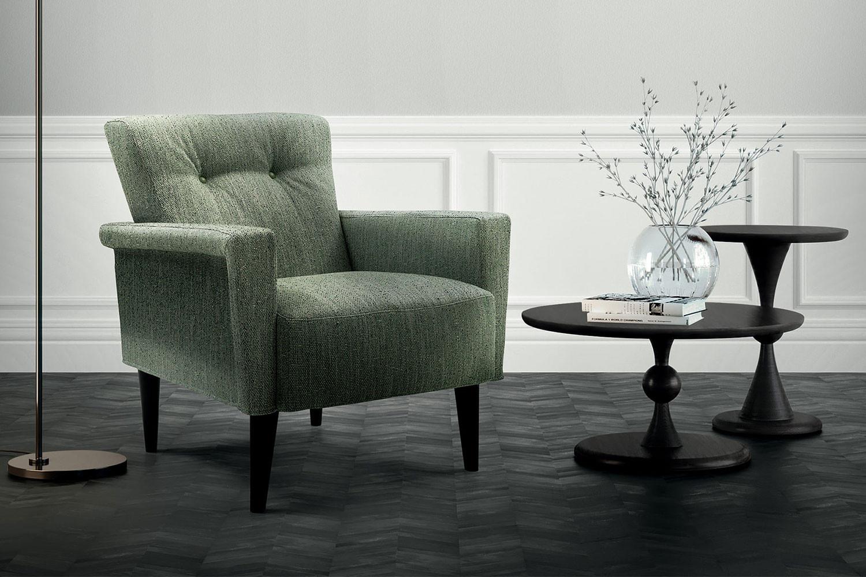 Nicole, eleganter gepolsterter Sessel im Vintage-Stil