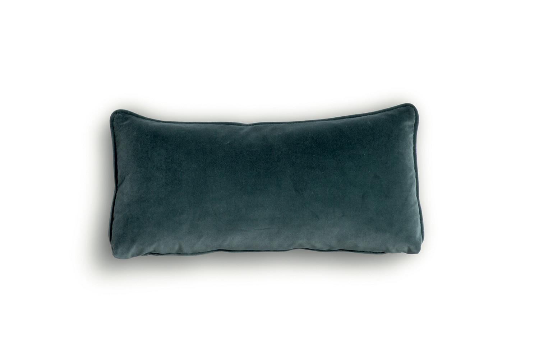 Cuscino lombare rettangolare lungo 50 cm, in tessuto, velluto, pelle