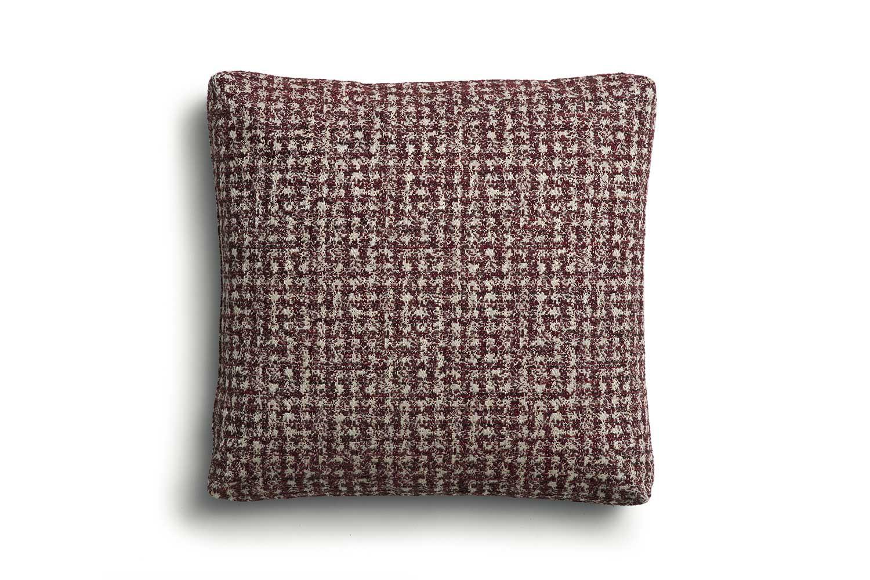 Cuscino d'arredo F con angoli cuciti 60x60 cm, imbottito in piuma
