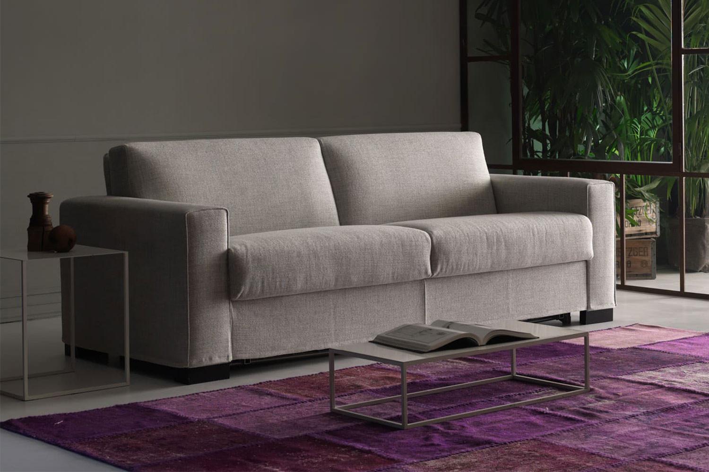 Joao, divano letto componibile con schienale ribaltabile