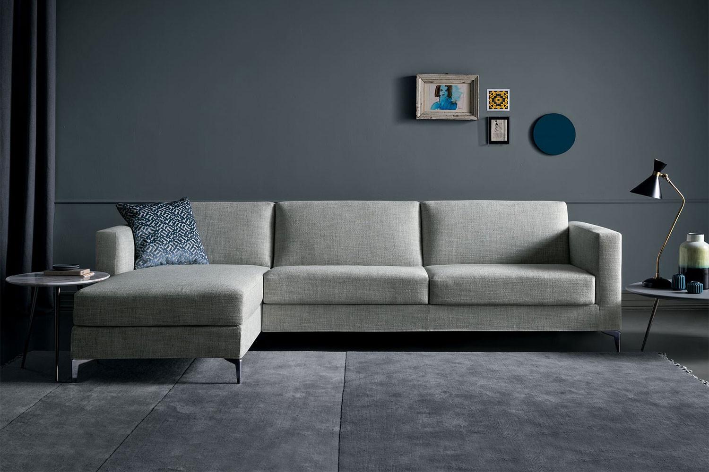 Richard, divano letto componibile con piedi alti 13 cm